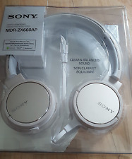 Sony MDRZX660APC Step up overhead Headphones - Ivory