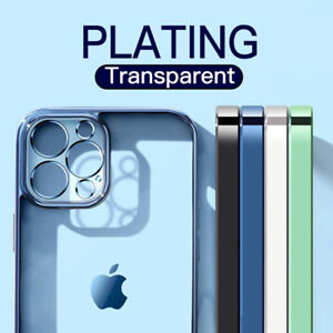 iPhone 11 12 Pro Max Mini Plating Schutzhülle Silikon Hülle Handy Case Cover TPU