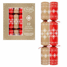 100% Recyclable Christmas Crackers - Plastic Free - Pack of 12