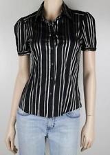 Zara Cotton Blend Regular Striped Tops & Blouses for Women