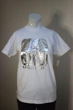 Milk Fed Sofia Coppola XS White & Silver Cotton Egyptian Empire Top T-Shirt New