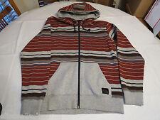 Men's Quiksilver jacket hoodie zip up coat XL Torquay RZA0 aqyft00123 stripes