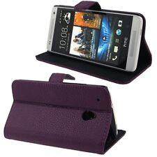 COVER CUSTODIA FLIP CASE per HTC ONE MINI M4 PELLE STAND+SLOT 2CARTE VIOLA NUOVO