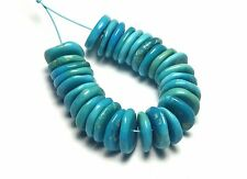 30 pcs SLEEPING BEAUTY TURQUOISE 9mm Rondelle Beads NATURAL COLOR /d89
