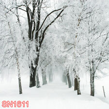 SNOW WINTER 10x10 FT CP PHOTO SCENIC BACKGROUND BACKDROP SN1611