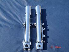07-10 Chrome Harley Fork Legs Sliders Heritage Fatboy 45500014 Exchange Only