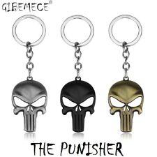 The Punisher Skull Keychain Punisher Skeleton Keychain Film Llavero Keyring Men