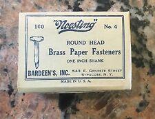 Vintage NOS Noesting Steel Paper Fastners #4