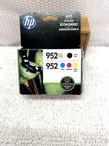 4-PACK HP GENUINE 952XL BLACK & 952 COLOR INK Not Expired OFFICEJET PRO
