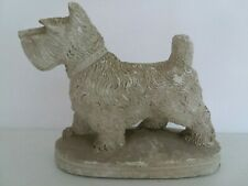 Vintage 1920's 30's Scottie? Dog Chalk Figure Carnival Prize Chalkware apx 5.25