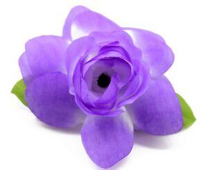 Hawaii Hair Clip Lei Party Luau Gardenia Flower Dance Beach Photo Blue Purple