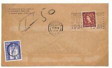 T205 1961 GB WILDING London QEII Underpaid Switzerland Stamp As Postage Due PTS