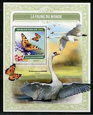 TOGO 2016  FAUNA OF THE WORLD DENMARK'S OFFICIAL  BIRD & BUTTERFLY  S/S  MINT NH