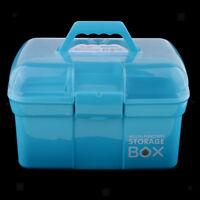 Plastic Tool Box Lockable Storage Case Arts Craft Supply Organizer Container
