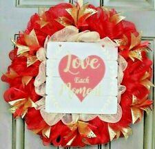💕 Love Each Moment ~ Valentine's Day wreath ~ Valentine Love & Hearts