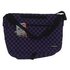 NEW Official Yak Pak Messenger Bag Black and Purple Patterened Laptop School Bag