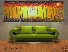 Huge bush fire dream aboriginal style art painting canvas landscape Australia