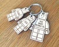 Personalised Fathers Day Gifts For Daddy Grandad Dad Uncle LEGO Keyring Gifts