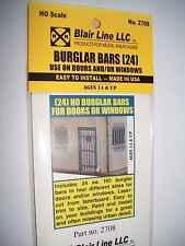 Blair Line Laser Cut HO Scale Burglar Bars (24)  #2708 Bob The Train Guy