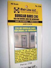 Blair Line Laser Cut HO Scale Burglar Bars (24)  #2708 Bob The Train Guy