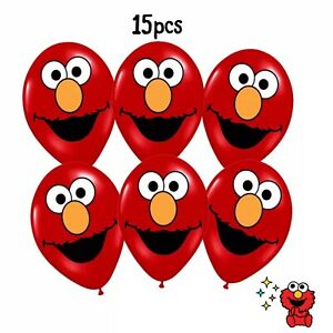 15pcs Elmo Latex Party Balloons  Supplies Decorations.