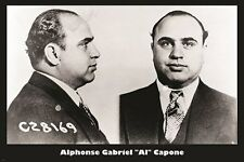 AL CAPONE mug shot VINTAGE PHOTO POSTER b/w famous gangster COLLECTORS 24X36