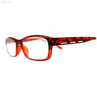 Resin Classic Retro Elders Reading Glasses Presbyopic Transparent Dark Red 2.5