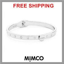 Mimco Brixton Hinged Bangle Bracelet Silver