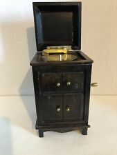Antique Classic Wooden Record Player Music Box