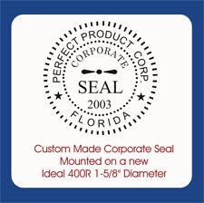 Corporate Seal Custom Trodat Ideal 400r Self Inking Rubber Stamp