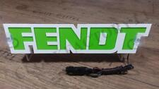FENDT 3D ILLUMINATING LED GREEN NEON PLATE 12 VOLTS 10 WATTS