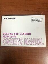 Kawasaki Vulcan 900 Classic VN900BE Owner's Manual 2013 Great Condition