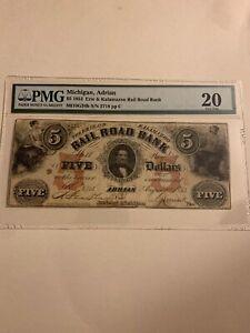 $5 1853 Erie & Kalamazoo Rail Road Bank