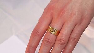 Hammered One Band Sterling Silver Spinner Ring- Stamped.925 14K Gold Plated