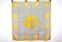 Christian Dior Vintage Large scarf Houndstooth pattern silk Multicolor 9946k