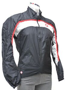 Castelli Compatto Lite Wind Jacket Men SMALL Black Road Bike GORE Windstopper