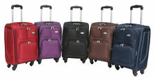 Canvas Travel Bags & Hand Luggage with Spinner (4) Wheels