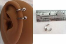Ear Cuff Fake Helix Cartilage Piercing Jewelry Ear Hoop Double Ball Steel