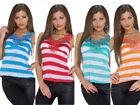 Neu SeXy Spitzen T-Shirt Oberteil Tops GoGo Gr.36/38 Rot, Blau, Orange