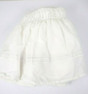 """Queen Size Bed Skirt w/ Embroidered Double Stripe Detail 18"""" Length Exc Cond"""