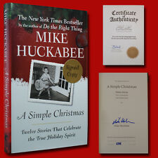 A Simple Christmas SIGNED Mike Huckabee ( Numbered, COA )