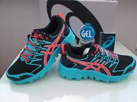 ASICS GEL-FUJI TRABUCO 7 LADIES BLUE AQUA TRAIL HIKING TRAINERS SIZE UK 5 EUR 38