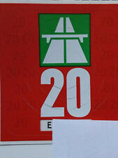 Autobahnvignette Schweiz 2020, Original, gültig bis 31.01.2021