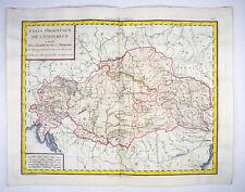 UNGARN MOLDAVIEN ÖSTERREICH BÖHMEN EUROPA KOL KUPFER KARTE MENTELLE 1788 #D920S