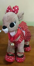 BUILD a BEAR RUDOLPH CLARICE WITH DRESS SHOES BELL IN EXCELLENT CONDITION 15""