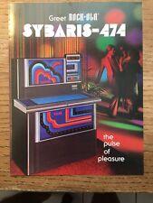 SYBARIS 474 ROCK-OLA 1978 JUKEBOX PROMO SALES BROCHURE--4PAGE BIFOLD IN PLASTIC
