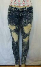 New Machine Womens Stretch Jeans Size 11 Skinny Distressed Acid Wash