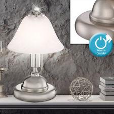 Nacht-Tisch-Lampe Touch Dimmer Wohn Zimmer Beleuchtung Alabaster Lese Leuchte