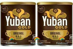 2 Cans Yuban Gold Original Ground Coffee Medium 44 OZ Each Can