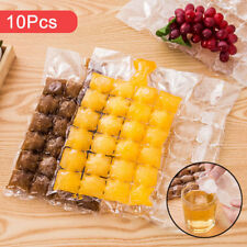 10pcs Disposable Ice Cube Bags Fridge Freezer Plastic BBQ Party Cubes Maker Tray